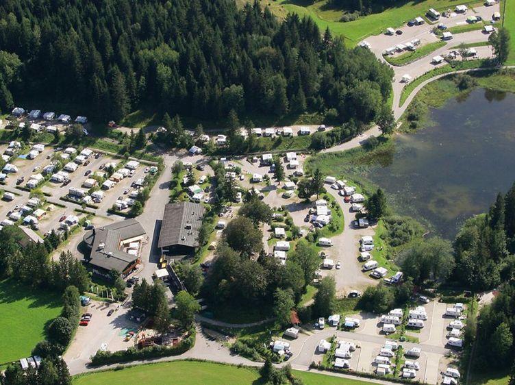 Alpen Caravanpark Tennsee Luftaufnahme 1