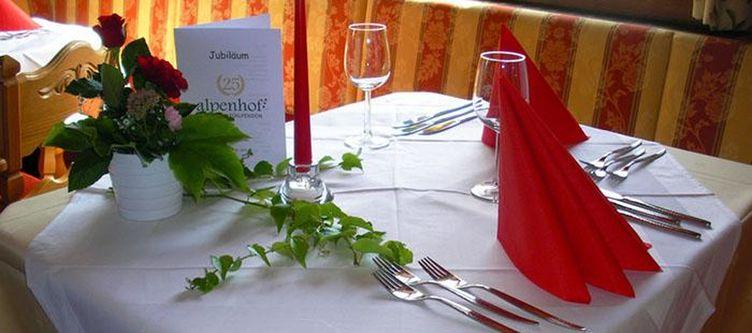 Alpenhof Restaurant Gedeck