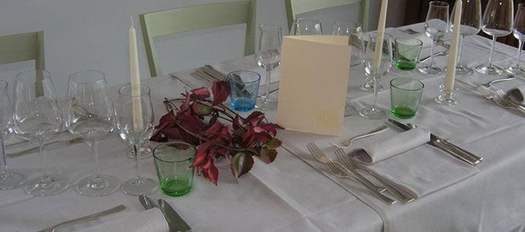 Azalea Restaurant Gedeck