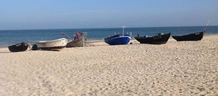 Baabe Umgebung Strand Boote