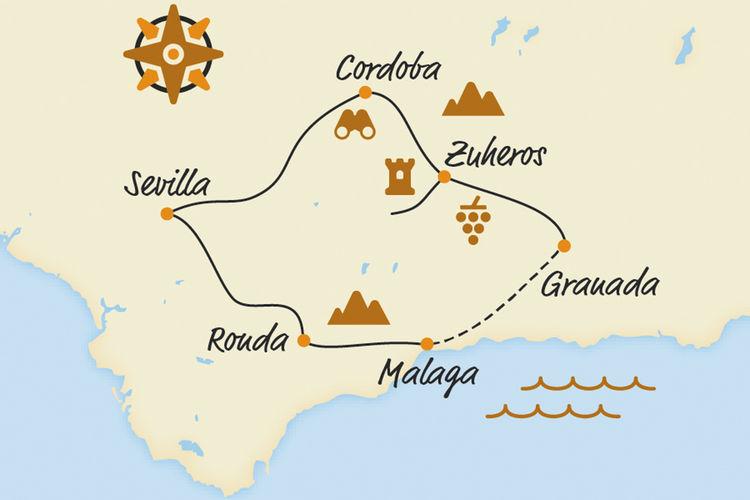 Belvelo2018 Karte Andalusien Kultur