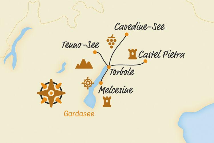 Belvelo2018 Karte Gardasee