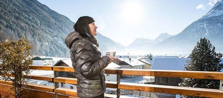 Bergwelt Balkon Winter