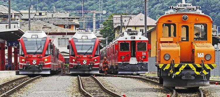 Bernina Berninabahn Bahnhof Tirano