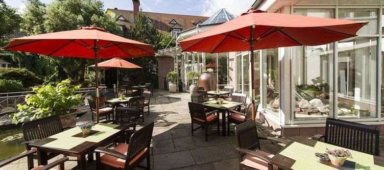 Binshof Restaurant Pfaelzer Stuben Terrasse