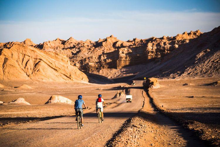 Cycling In Moon Valley Valle De La Luna Atacama Desert North Chile