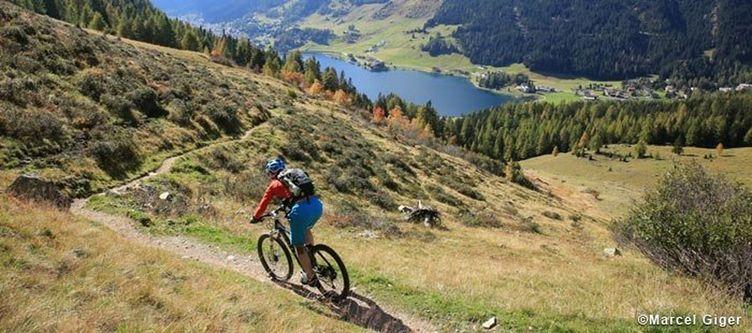Davos Biken Davoser See Herbst