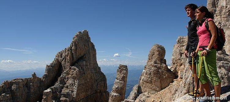 Fiemme Klettern Aussicht 2