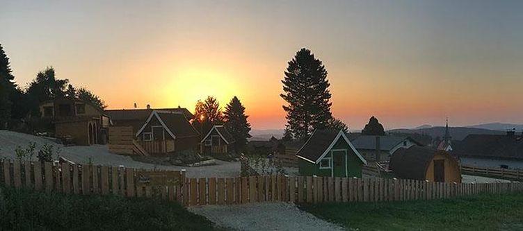Glamping Areal Sonnenuntergang