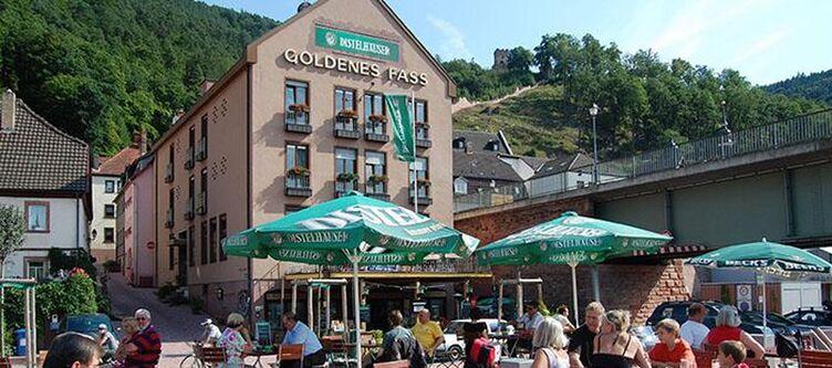 Goldenes Fass Hotel Terrasse