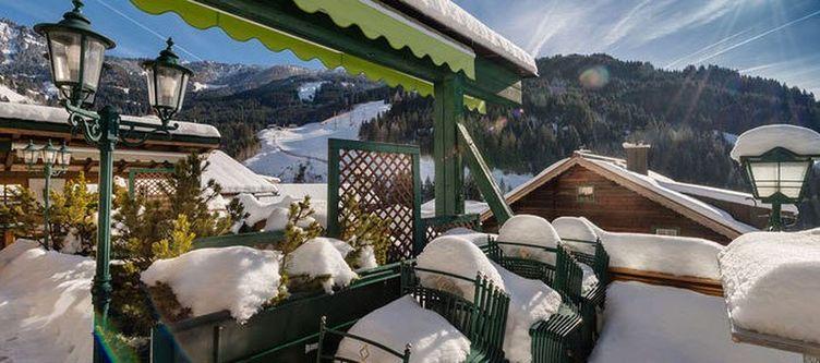 Hauserbauer Terrasse Winter
