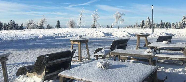 Kahlerasten Terrasse Winter