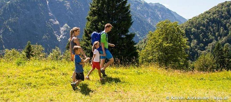 Klostertal Wandern Familie
