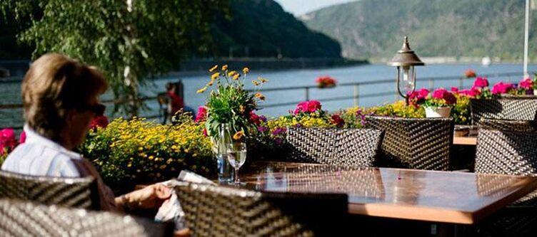 Krone Terrasse Blick Auf Rhein