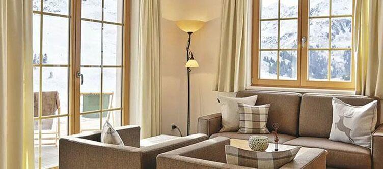 Kuehtai Apartement Murmeltier Wohnbereich