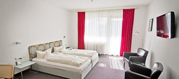 Kurpark Zimmer Komfort Balkon Fernseher