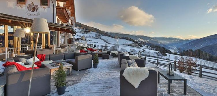 Laerchenhof Terrasse Winter