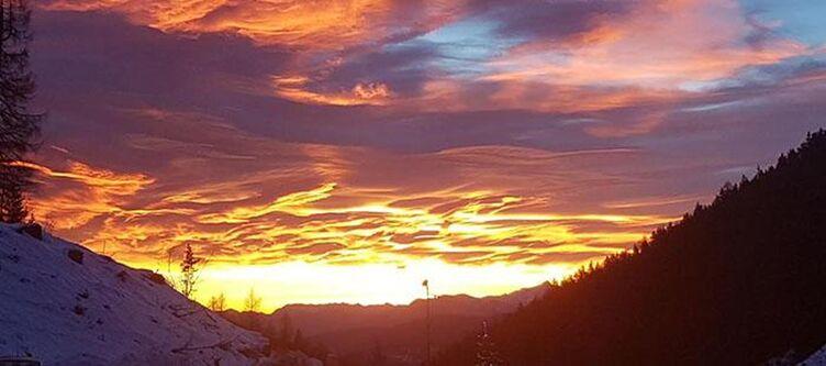Lodge Sonnenuntergang Winter
