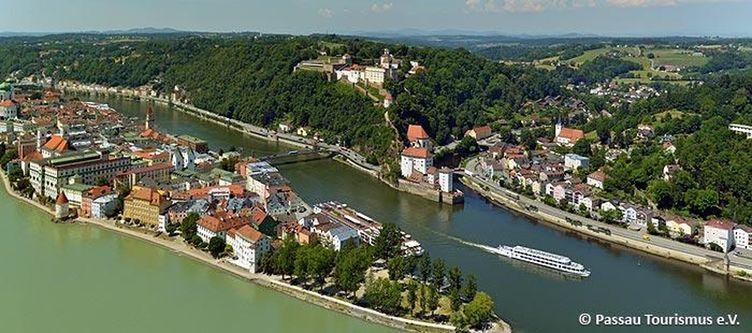 Passau Dreifluesseeck Blickrichtung Nordwest
