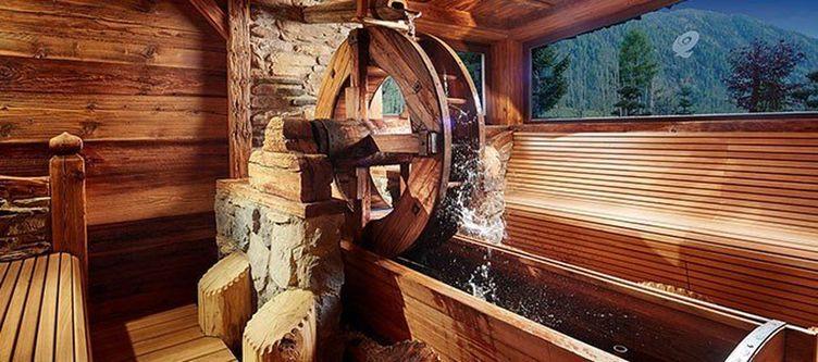 Quelle Sauna Wasserrad