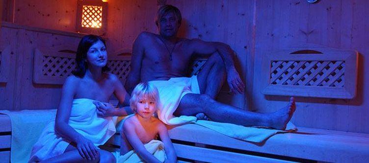 Rindererhof Wellness Sauna Familie