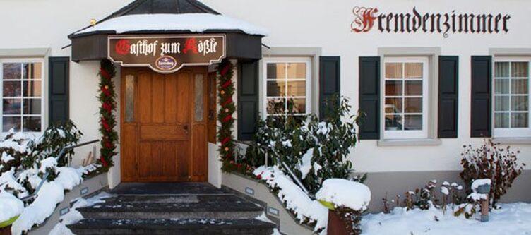 Roessle Hotel Winter Eingang