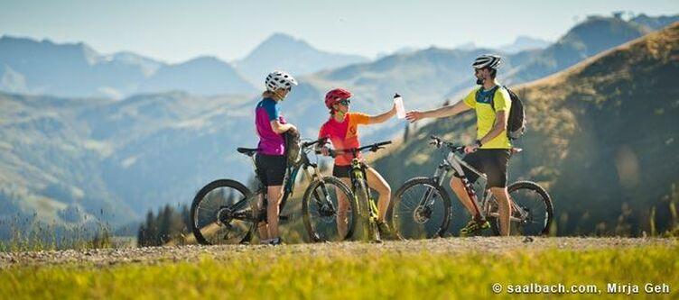 Saalbach Sommer Biketour Rast 1