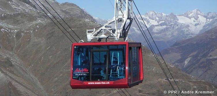 Saas Fee Bergbahnen Ausblick Felskinn 1