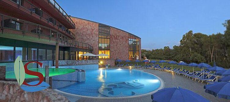 Sardegna Pool Abend