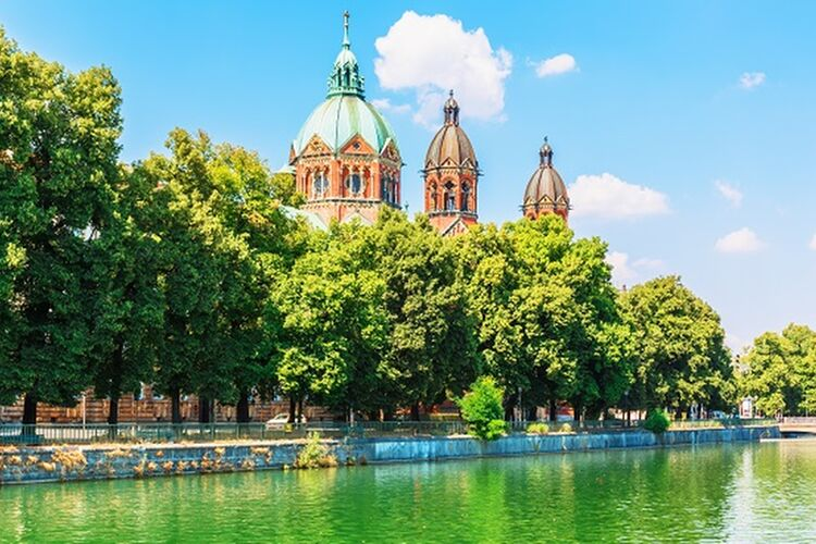 Scenic Summer View Of Isar River Embankment Architecture In The Old Town Of Munich Shutterstock 617797685