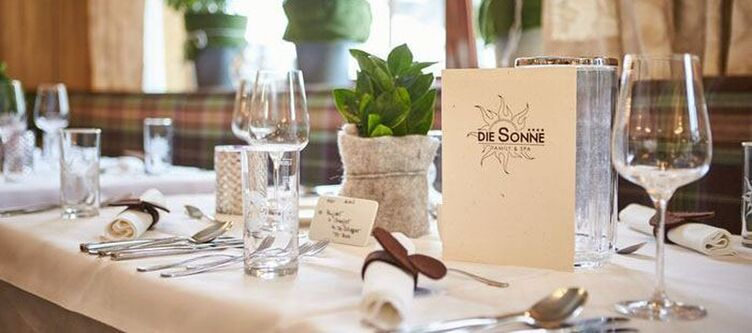 Sonne Restaurant Gedeck