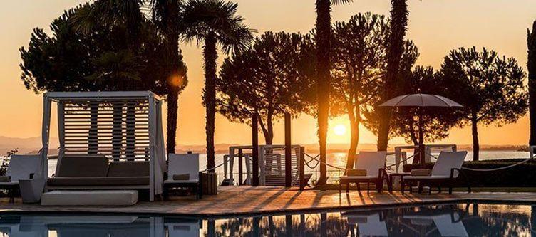 Splendido Pool Sonnenuntergang