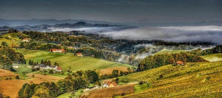 Suedsteiermark Landschaft Nebel