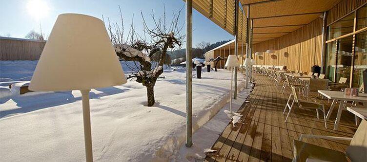 Tannenhof Terrasse Winter