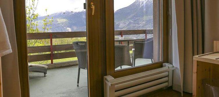 Walliserhof Zimmer Balkon